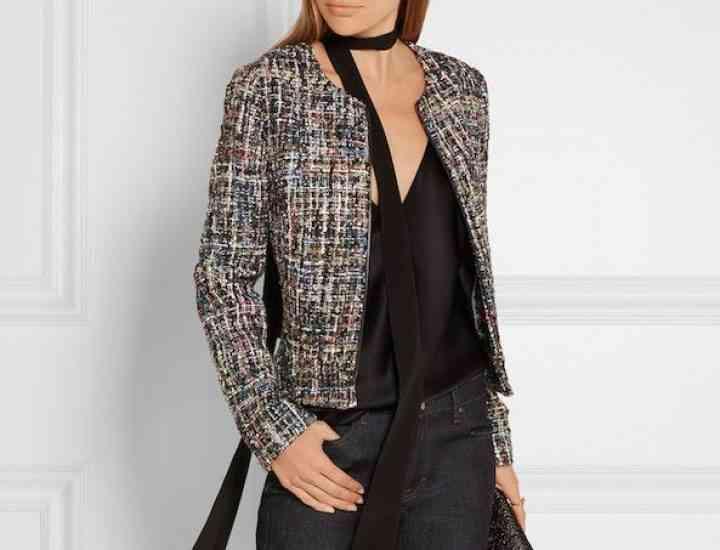 Jachete de tweed stil Chanel potrivite pentru toamnă
