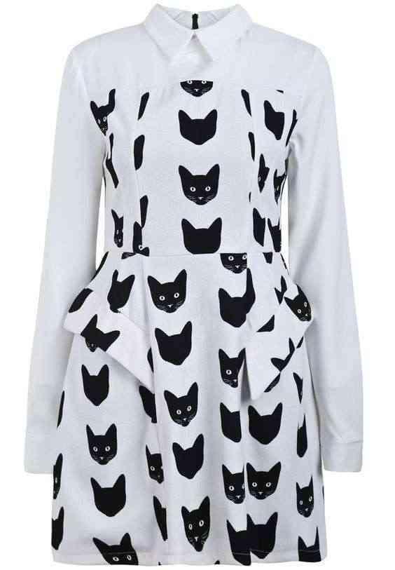 rochie-alba-cu-pisici