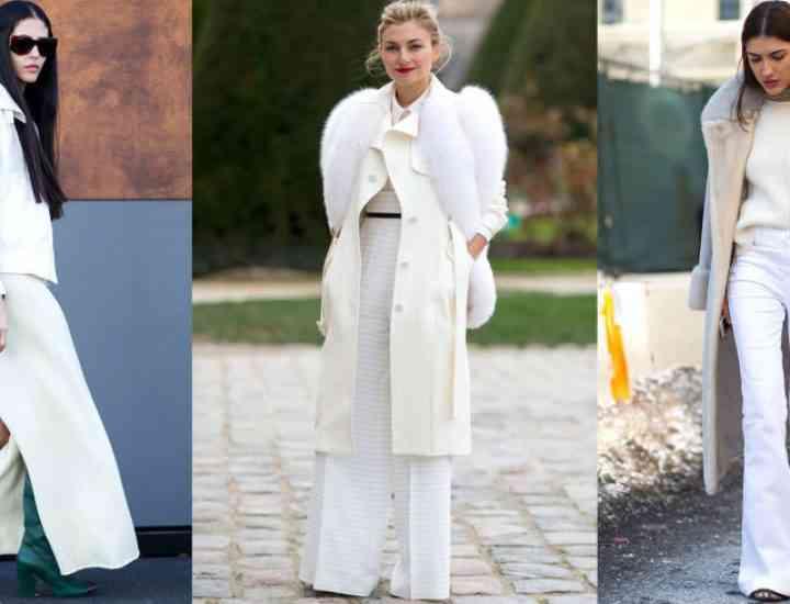 Cum să purtăm alb în sezonul rece