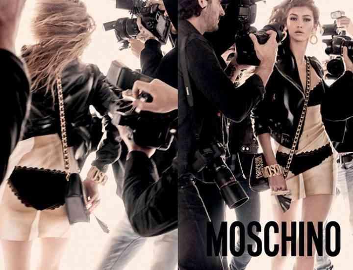 Gigi & Bella Hadid, modelele campaniei Moschino primăvară/ vară 2017