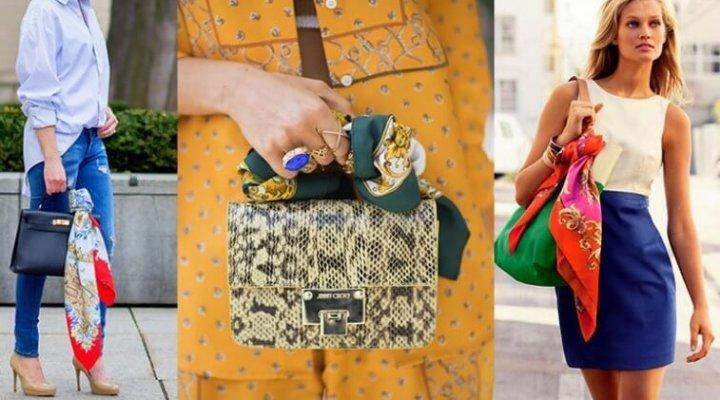 Eșarfa legată la geantă – noua obsesie de modă