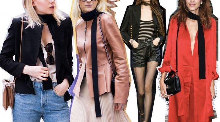 Eșarfele subțiri sunt la modă în 2017