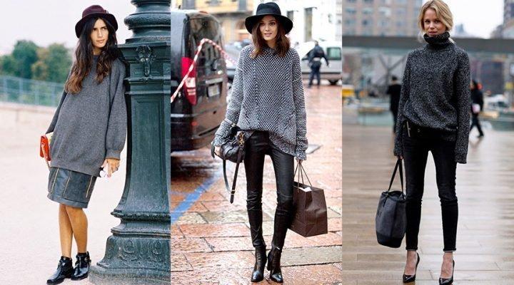Cum să porți un pulover supradimensionat în stiluri diferite
