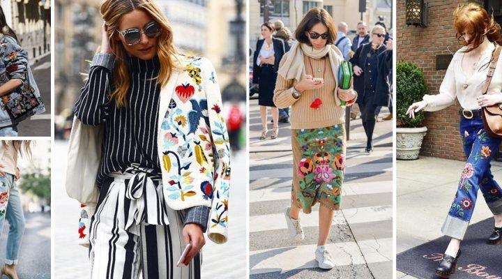 Hainele cu broderie la modă în primăvara 2017