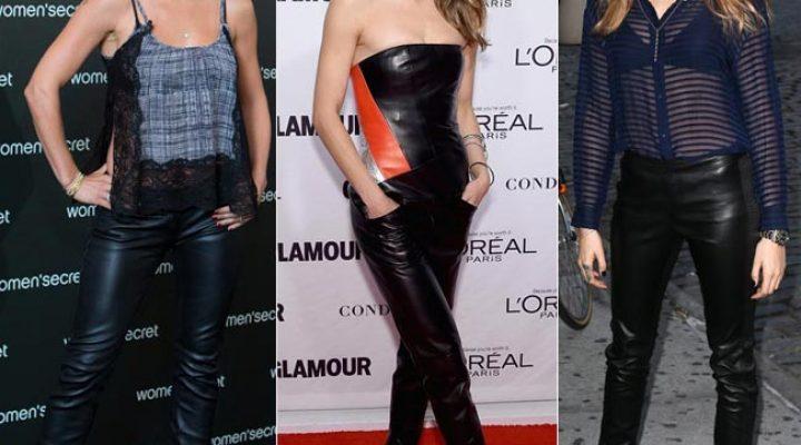 Ce pantaloni de piele se poartă în 2017