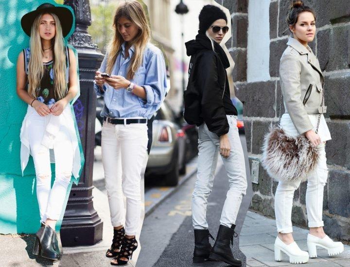Trucuri de stil pentru a purta o pereche de pantaloni albi