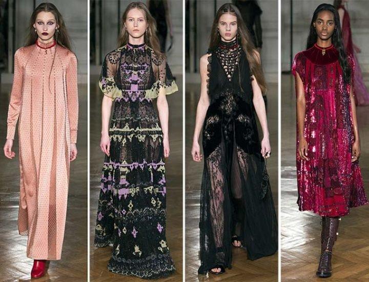 Colecția Valentino toamna-iarna 2017 este un ansamblu de rochii eterice
