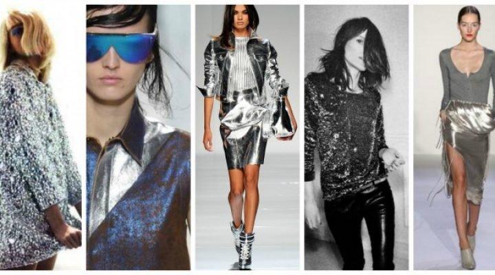 Hainele cu efect metalic la modă în 2017