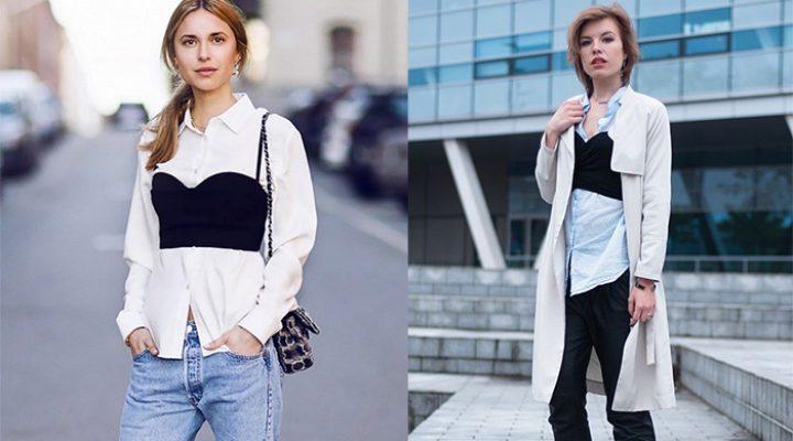Trend alert: sutienul purtat peste haine