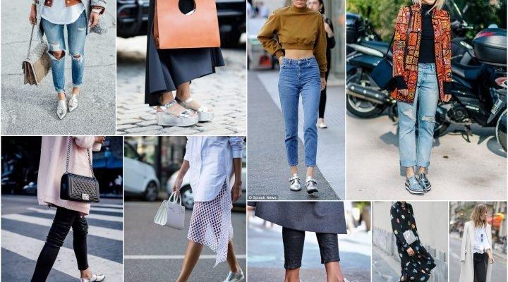 Cum să porți pantofii argintii