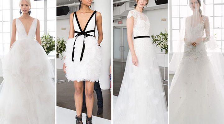 Rochii de mireasă la modă în colecția Marchesa pentru primăvara 2018