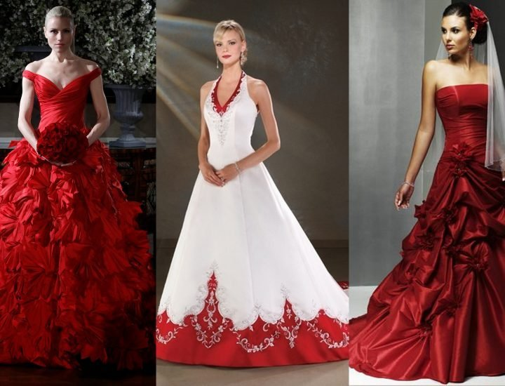 Rochii roșii de mireasă la modă pentru miresele îndrăznețe