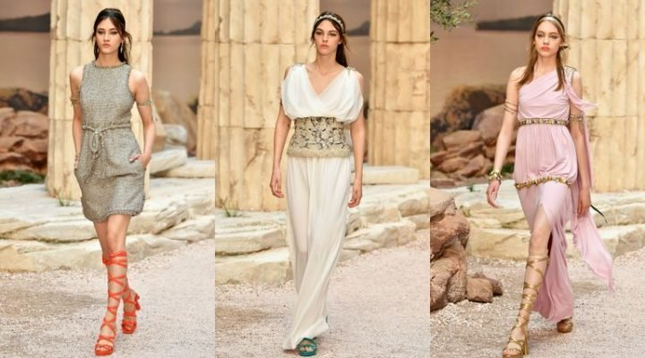 Karl Lagerfeld s-a inspirat din Grecia Antică pentru colecția sa de croazieră 2018