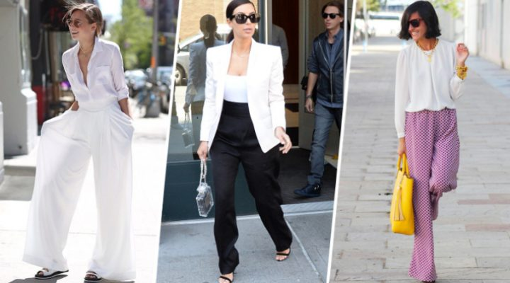 Pantalonii largi – cum să îi porți la orice eveniment