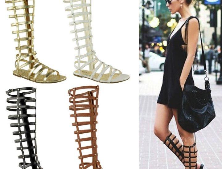 9 modele de sandale gladiator la modă în vara 2017