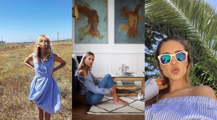 Trend alert: cămașa cu dungi albe și albastre
