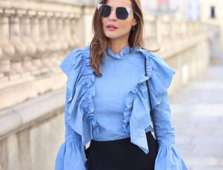 Bluzele cu volane – tendința anului 2017