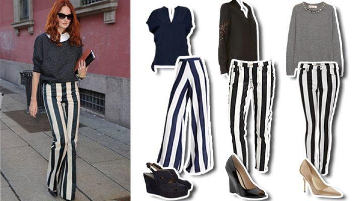Idei de stil pentru a purta pantalonii cu dungi