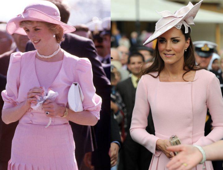 Asemanarile de stil dintre Printesa Diana și Kate Middleton
