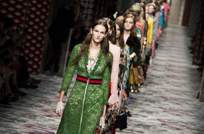 Gucci a renuntat la blana in colectia pentru primavara-vara 2017