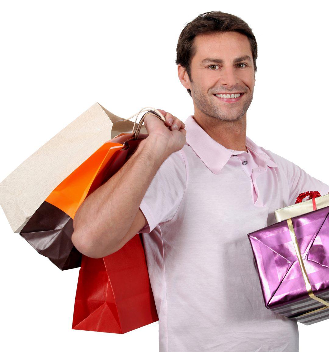 barbatii la shopping